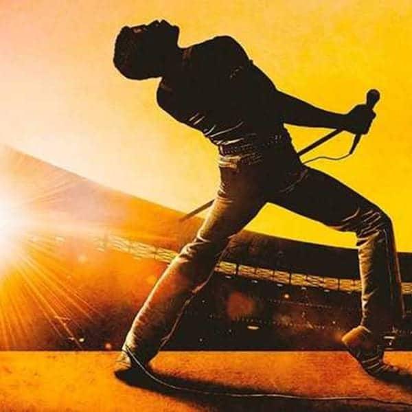 Rami Malek als Freddie Mercury op de poster van één van de films Bohemian Rhapsody die ik hier bespreek