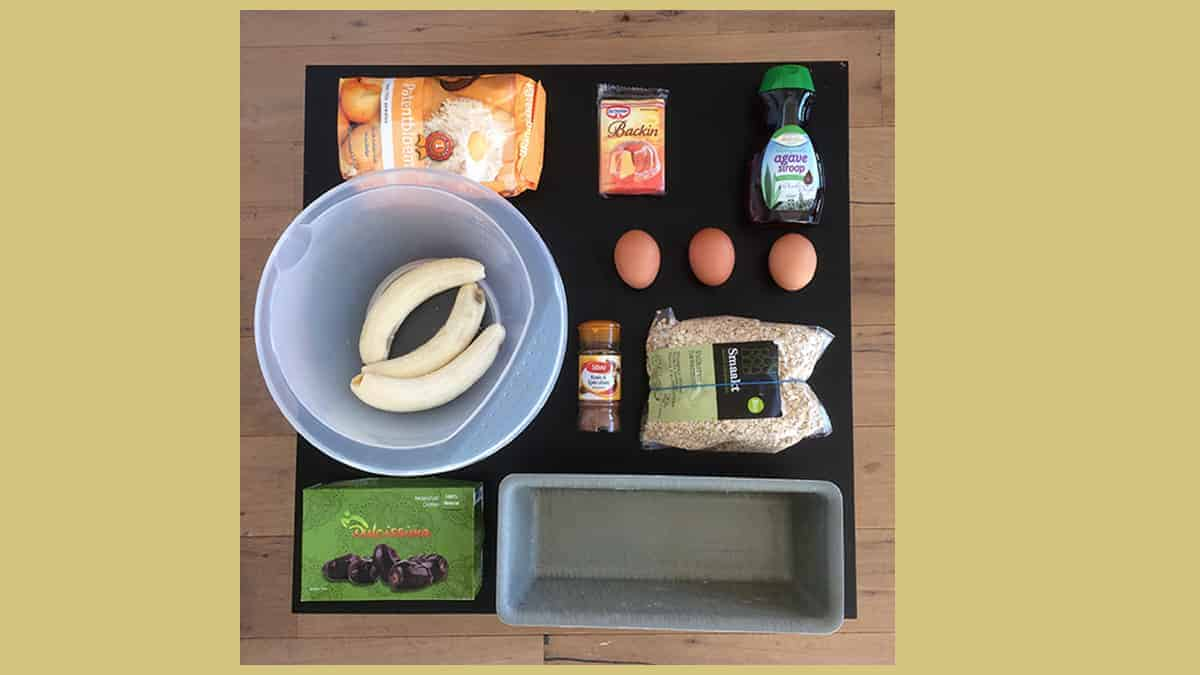 Bananenbrood, heel makkelijk recept