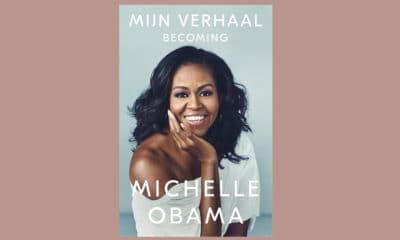 omslag van het boek van Michelle Obama, mijn verhaal