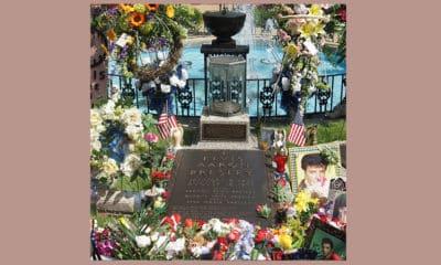 Het graf van Elvis Presley in Memphis, Tennessee
