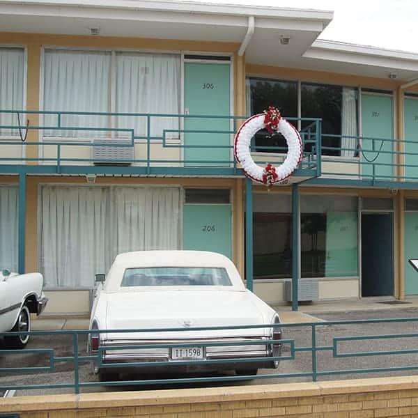 Buitenkant van het Lorraine Motel, waar in 1968 Martin Luther King is vermoord. Memphis, Tennessee
