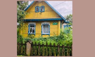 Geel huis in Polen