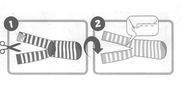 Hoe leg je de sok neer om er een sokpop van te maken?