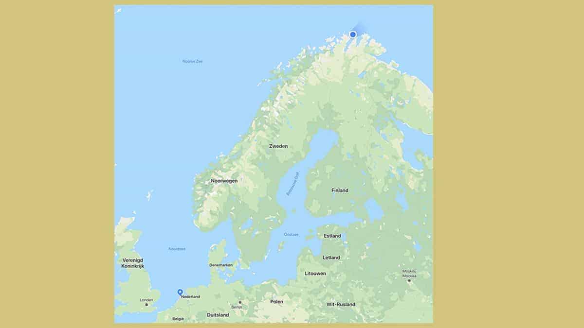 De Noordkaap in Noorwegen