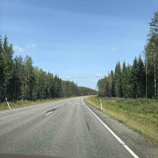 We zijn met onze roadtrip door Europa in Finland