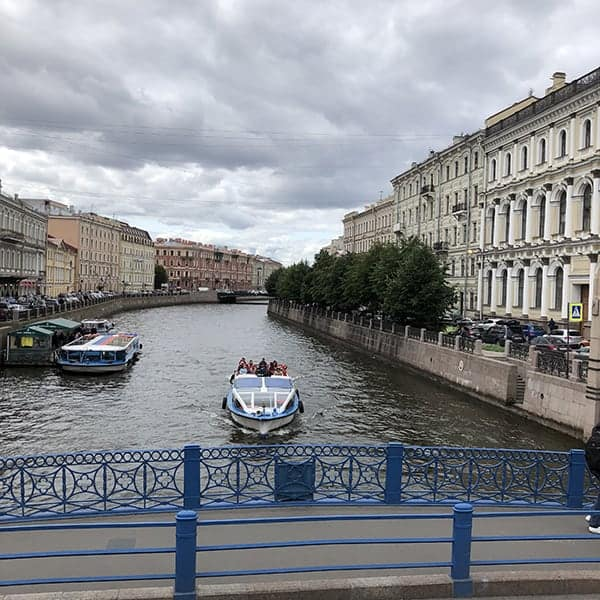 Een gracht in St.Petersburg