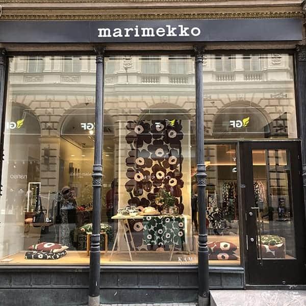 De pui van Marimekko in Helsinki in Finland