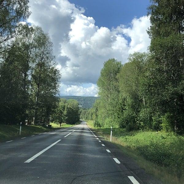 De E45 is Zweden is makkelijk te berijden, want er is weinig verkeer