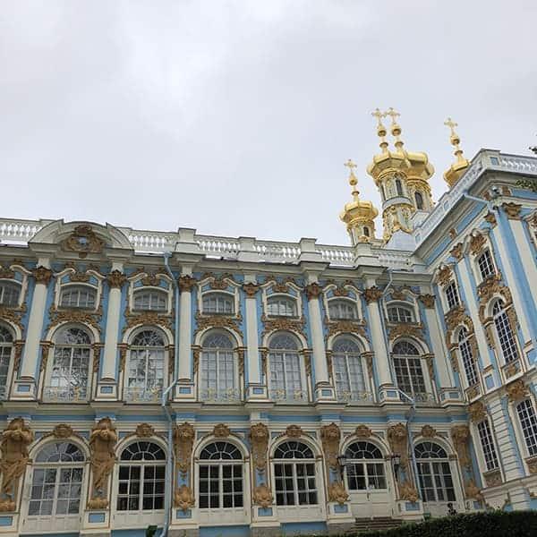 Het zomerpaleis van Catharine de Grote nabij St.Petersburg