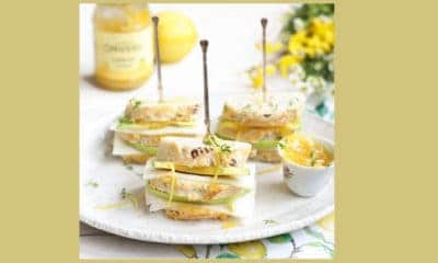 Recept van The Lemon Kitchen, avocado met geitenkaas en lemoncurd