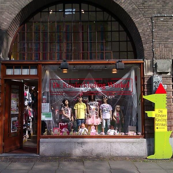 De Kinderkleding Winkel in de Beethovenstraat in 2003