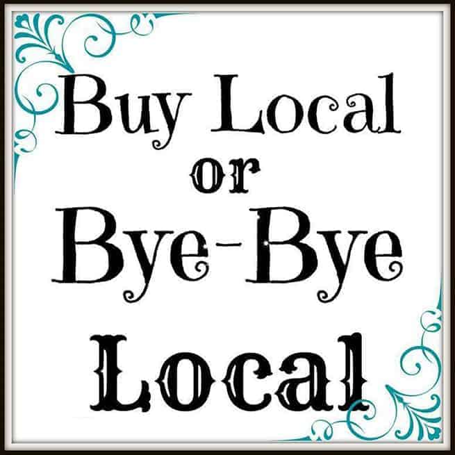 Buy Local or Bye-Bye Local, een spreuk om de lokale middenstand te helpen