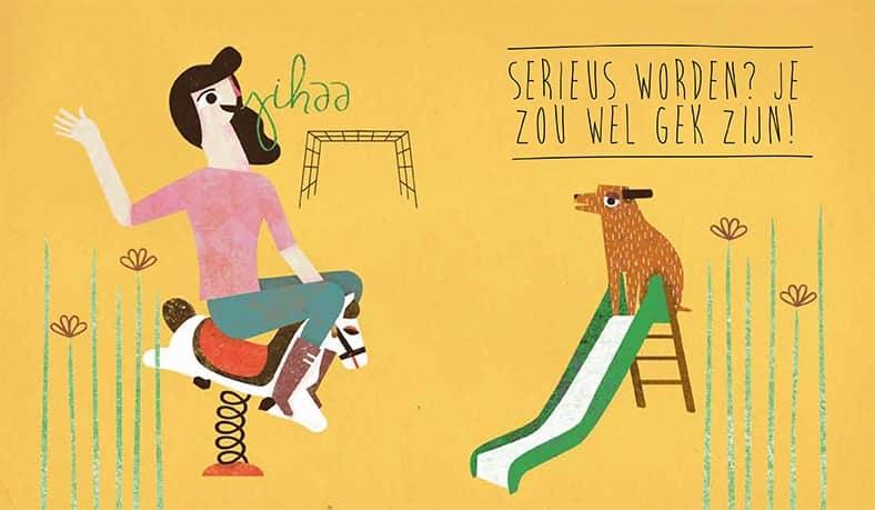 Illustratie uit het Snorboek voor Vrouwen van 30+