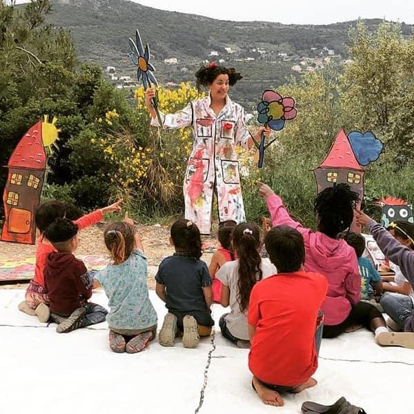 10 Vluchtelingenkinderen hebben plezier