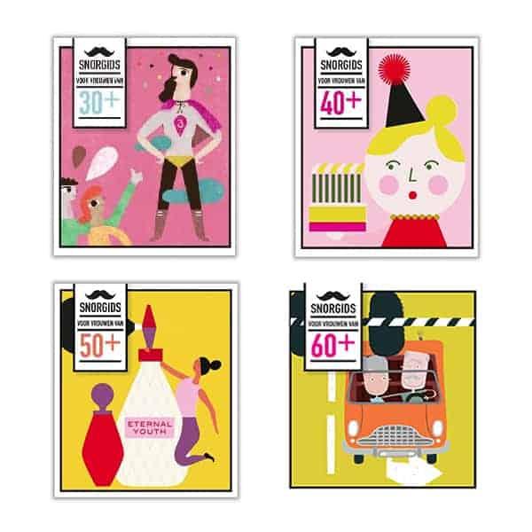 Een grappig boek voor vrouwen is ongetwijfeld de Snorgids voor vrouwen. Ze zijn er voor vrouwen van 30+, 40+, 50+ en 60+.  Het zijn informatieve gidsen van Uitgeverij Snor.