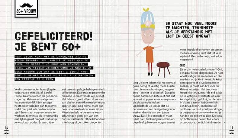 Tekstje uit Snorgids voor vrouwen 60+