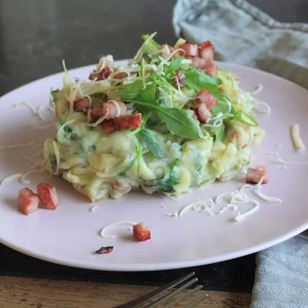 Foodinista bedacht deze stamppot met witlof, ham en kaas. Ga lekker deze winter deze stamppot maken voor je gezin.