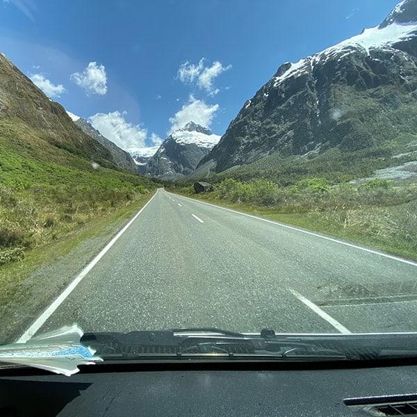 Rijden in Nieuw Zeeland in de bergen