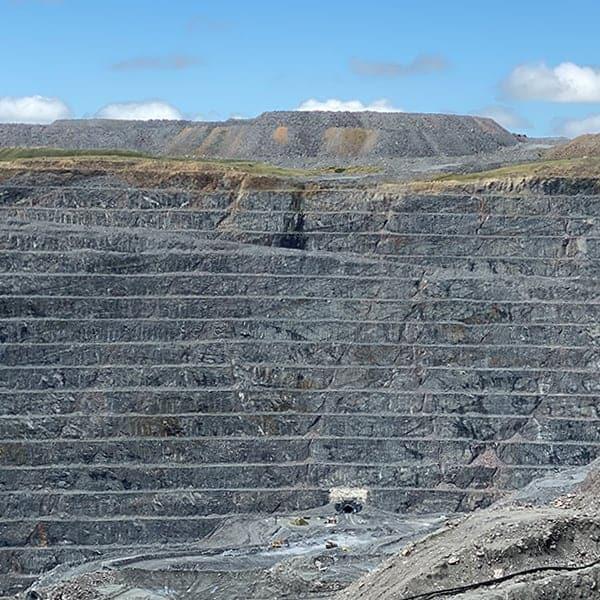 Een nog werkende goudmijn op het Zuidereiland van Nieuw Zeeland