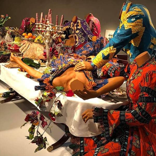 Last Supper van Yinka Shonibare in het LAM, een leuk museum voor kinderen in Lisse