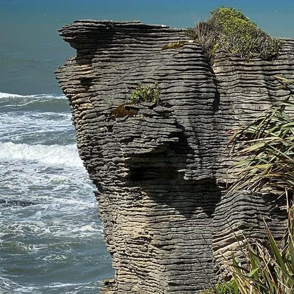 Pancake Rocks op het Zuidereiland