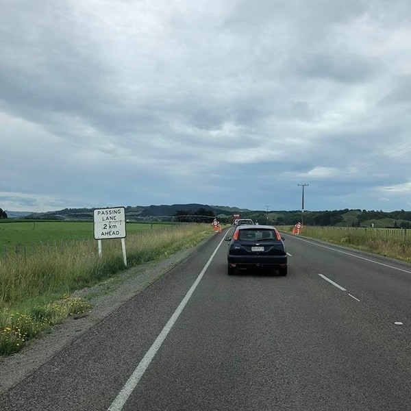 Rijden in Nieuw Zeeland: passing lanes, waar je kunt inhalen
