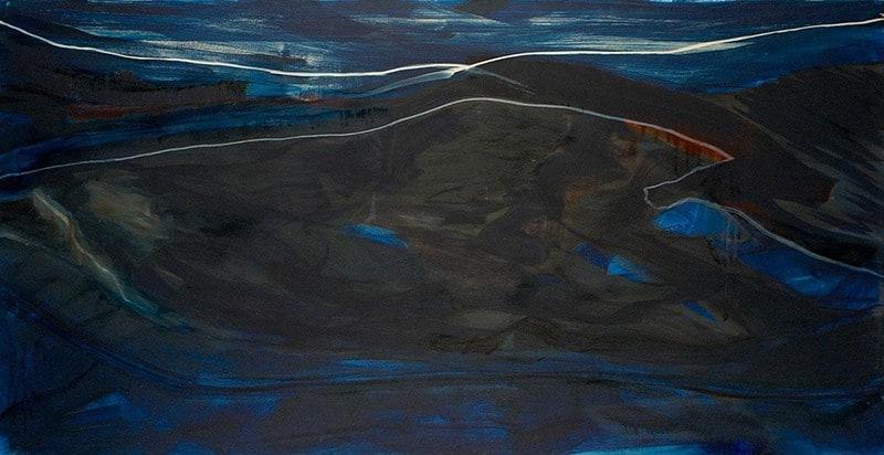 Christine Bittremieux schildert grote schilderijen