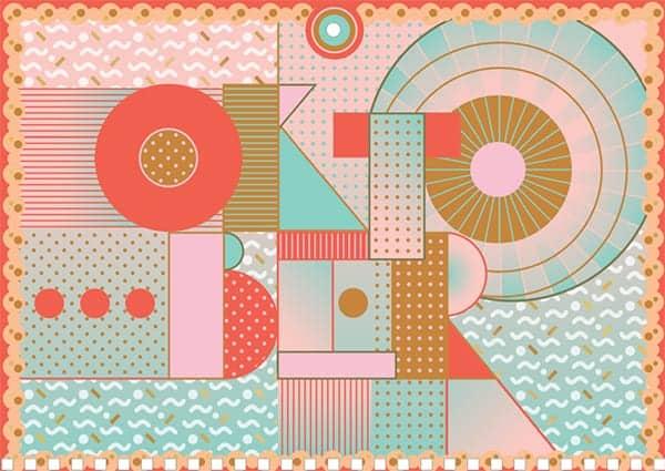 OKTOBER, een pagina van de Verjaardagskalender van SNOR
