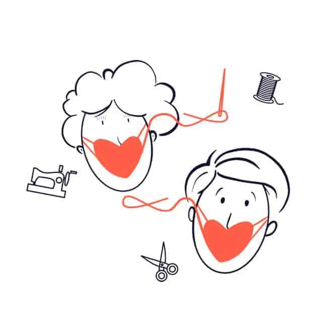 Maakjemondmasker.be is een Belgische website met het beste naaipatroon van een mondmasker
