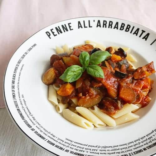 Pasta met eggplant