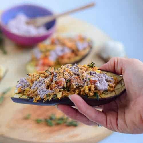 Eggplant met tonijn