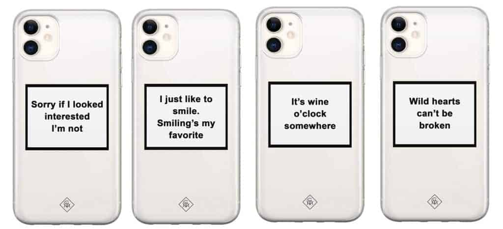 telefoonhoesjes met quotes