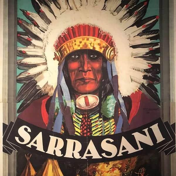 Poster van Circus Sarrasani. Te zien in het indianenmuseum in Radebeul, Dresden.