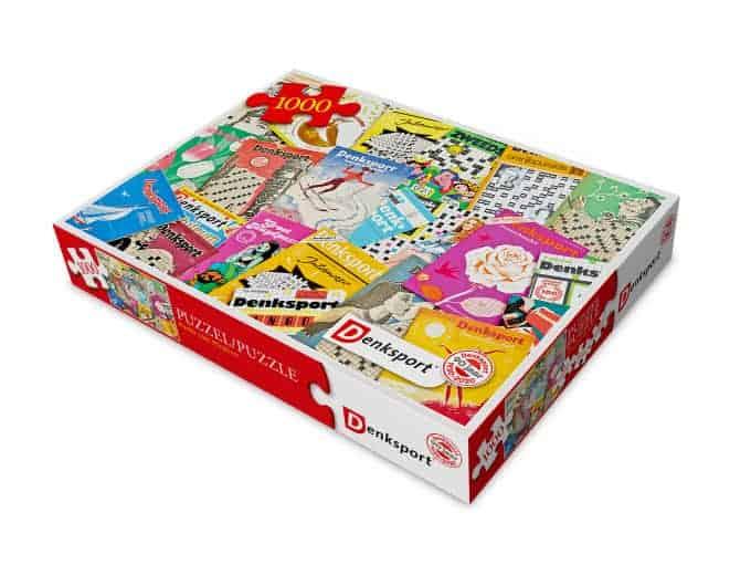 Waarom is puzzelen goed voor je? Denksport combineert dit jaar een legpuzzel met woordpuzzels, heel grappig!