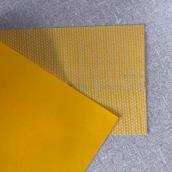 Kunstleer of imitatieleer of gelamineerde stoffen zijn allemaal geschikt voor het maken van een kubus.