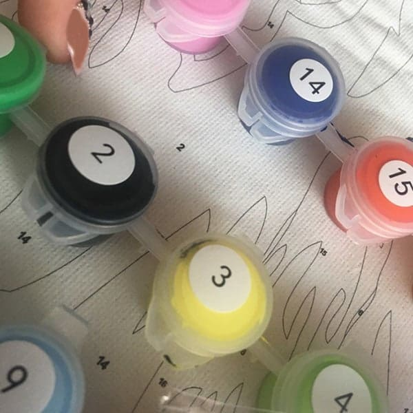 Kleuren op nummer met je eigen foto: heel leuk om te doen.