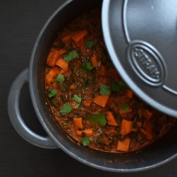 Vegetarisch recept met zoete aardappel