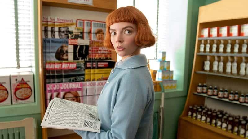 Anya Taylor-Joy als Beth Harmon in de Netflix serie over schaken Queen's Gambit