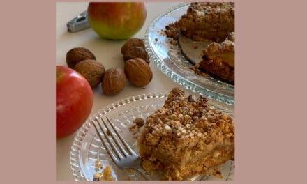 Walnoten appeltaart met Franse invloeden [recept]