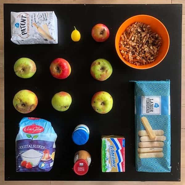 Ingrediënten Walnoten Appeltaart
