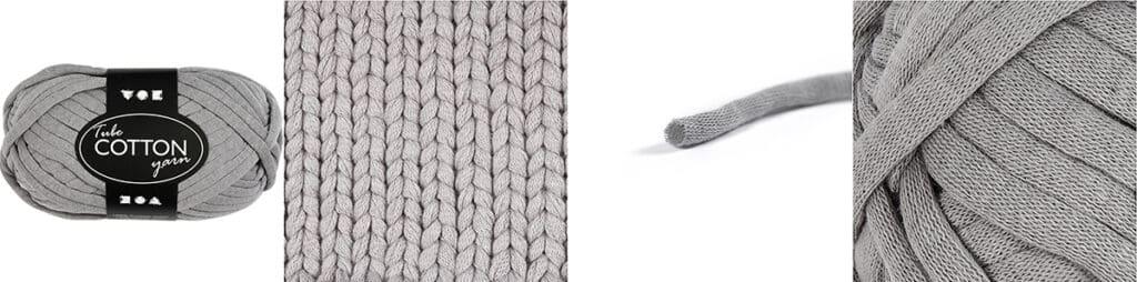 Textielgaren of Spaghettigaren voor gebruikt voor deze gehaakte trommel