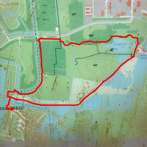 Wandelen bij Halfweg in het Geuzenbos en over de Spaarnwouderdijk