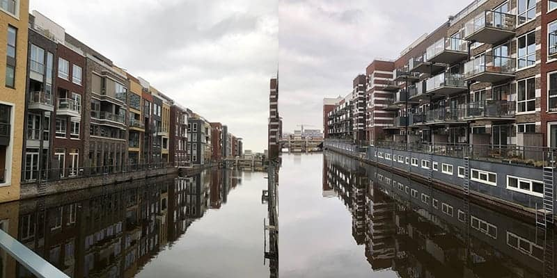 Nieuwe Houthavens, Amsterdam, in het IJ