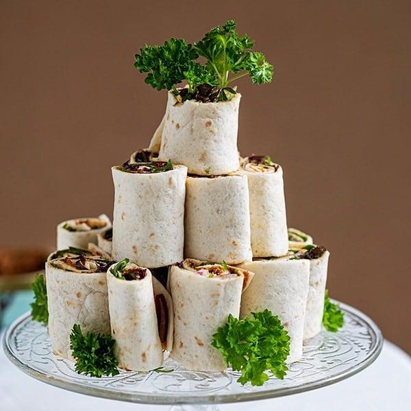 Makkelijke picknick hapjes, wraps met sardientjespaté