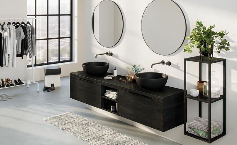 Badkamerspiegels in een Industriële look